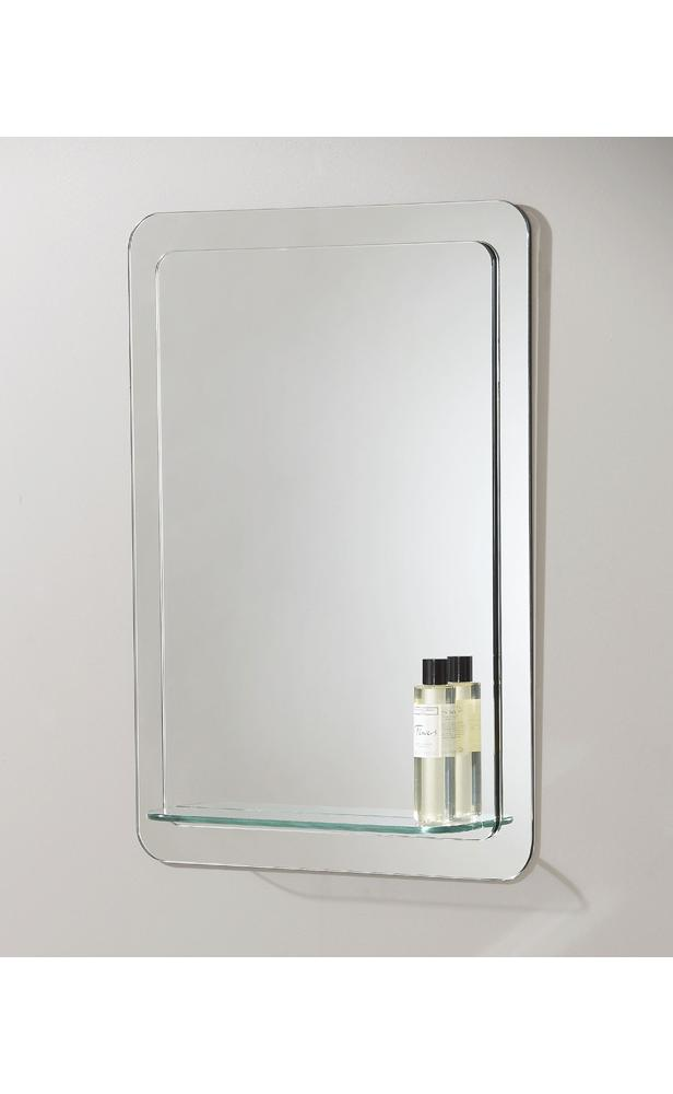 details about modern bathroom mirror with glass shelf hp025736