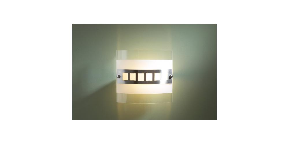 100 Watt Contemporary Square Glass Flush Wall Light - HP011814 eBay