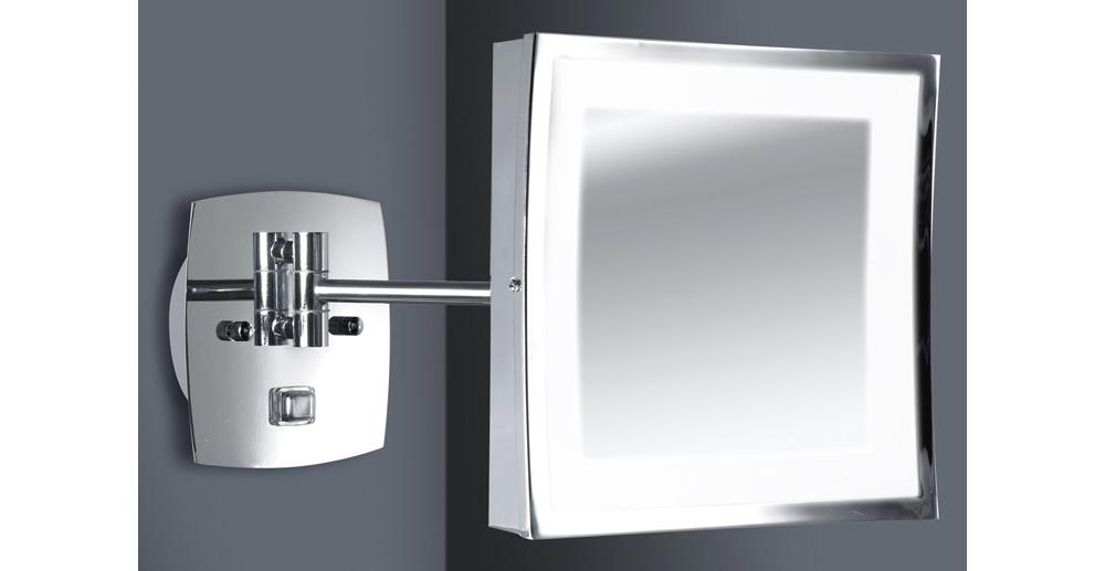 Switched Ip44 Bathroom Swinging Arm Wall Mirror Light