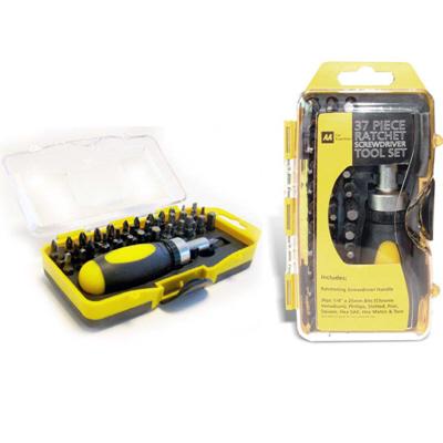 aa car essentials screwdriver ratchet tool set 37 pieces chrome vanadium kit. Black Bedroom Furniture Sets. Home Design Ideas