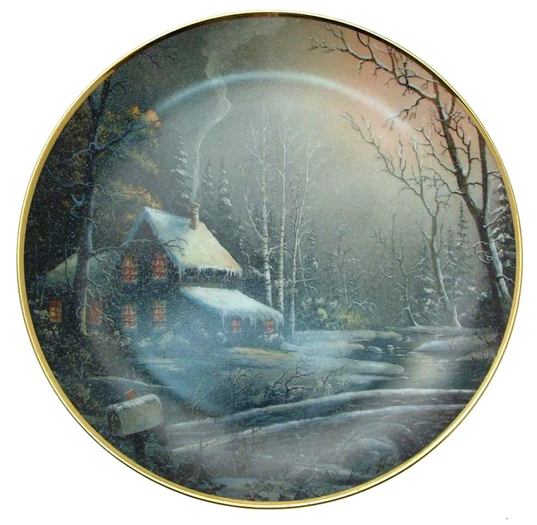 Franklin mint winter watch ron huff collector plate cp1861 ebay for Winter watches