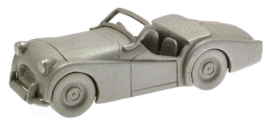 Danbury Mint authentic scale replica pewter car Triumph TR2 1954