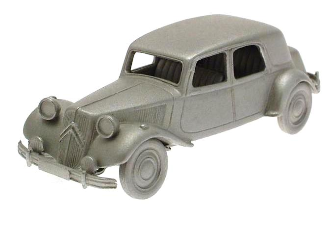 Danbury Mint authentic scale replica pewter car Citroen 15 CV 1953