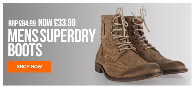 Mens Superdry Boots Now 33.99