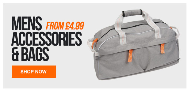 Mens Accessories and bags from 4.99