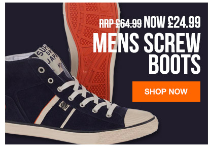 Mens Screw Boots Now 24.99