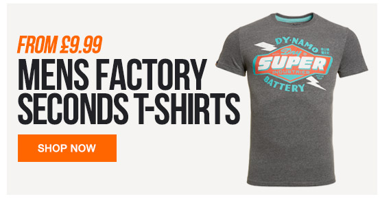 Mens Factory Seconds tshirts from 9.99