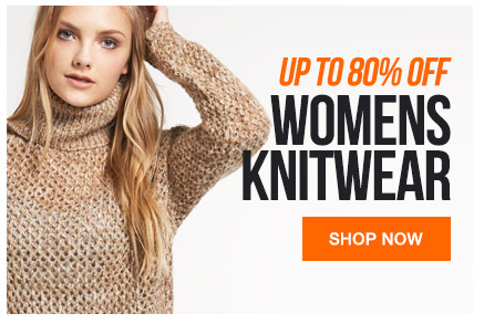 Womens knitwear up to 80% off