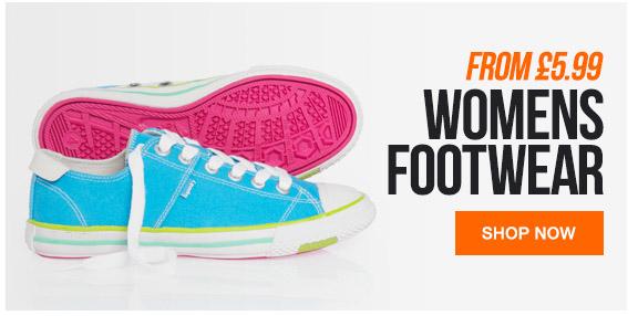 Womens Footwear from 5.99