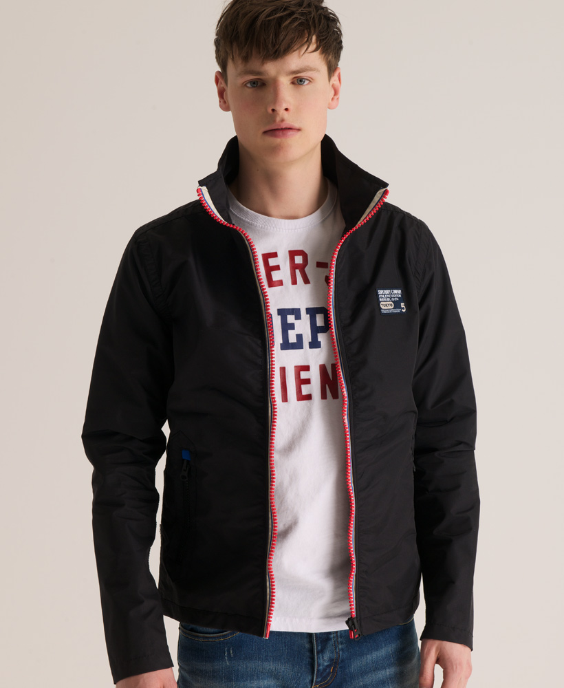New Mens Superdry Tri Colour Outdoor Jacket Black