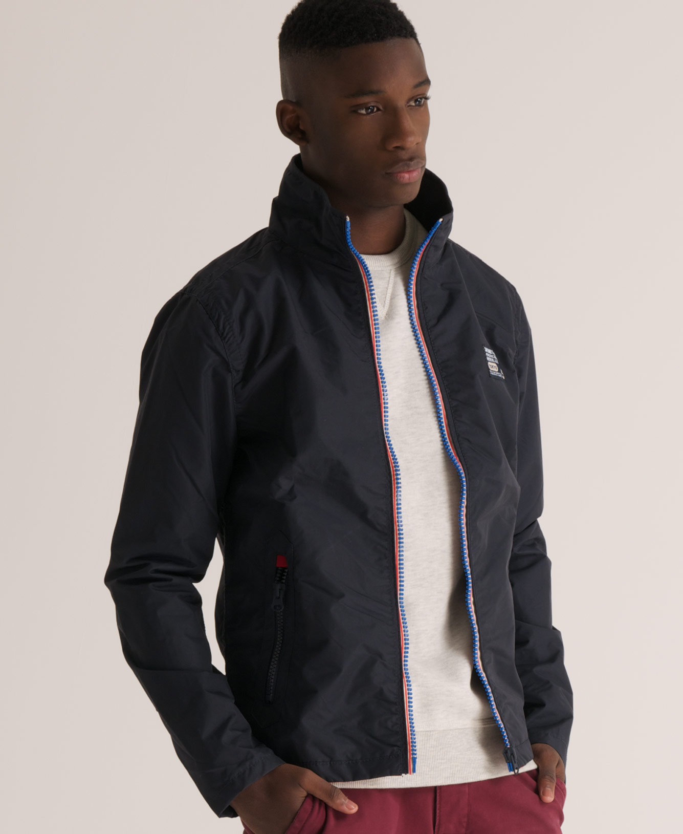 New-Mens-Superdry-Tri-Colour-Outdoor-Jacket-Navy