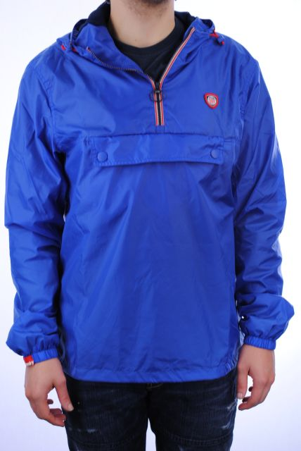 New-Mens-Superdry-Overhead-Cagoule-Jacket-New-Royal-Blue