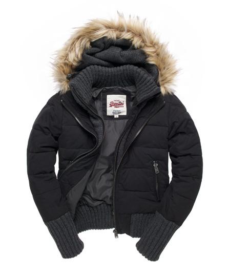 new womens superdry matterhorn jacket mountain black ebay. Black Bedroom Furniture Sets. Home Design Ideas