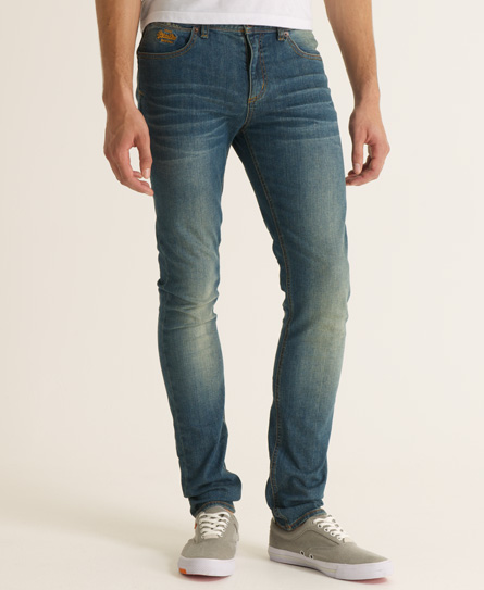 New-Mens-Superdry-Standard-Blue-Skinny-Jeans-Authentic-Worker-Blue-AB
