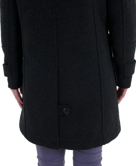 Superdry classic duffle coat black marl