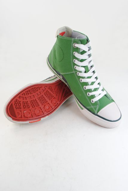 New Mens Superdry Super Series Hi Top Trainers Kelly Green