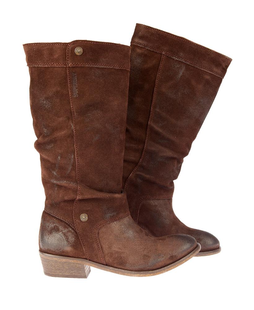 new womens superdry roper boot brown suede ebay