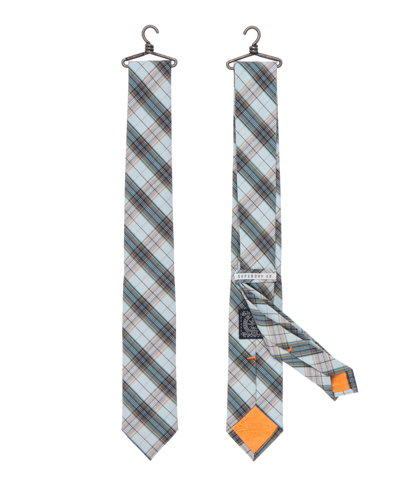 New-Mens-Superdry-Premium-Slim-Tie-Pimlico-Tartan