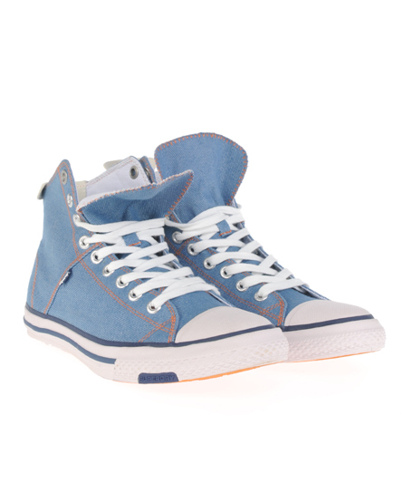 New-Mens-Superdry-Super-Series-Hi-Top-Trainers-Light-Denim-AA