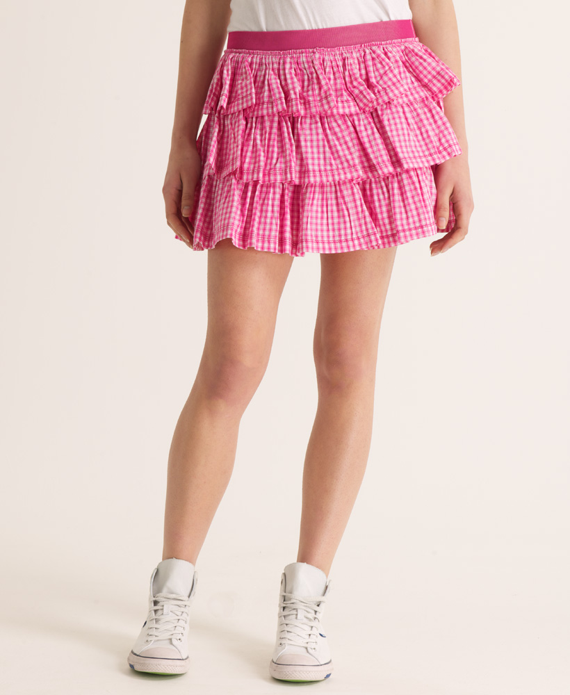 new womens superdry patterned bouquet skirt brooksby pink