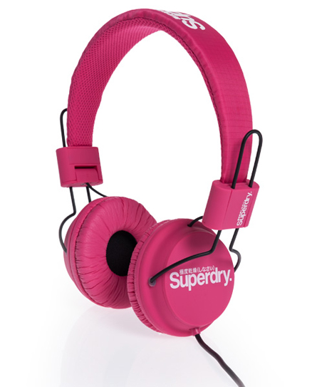 New Superdry Technical Headphones Punk Pink AA