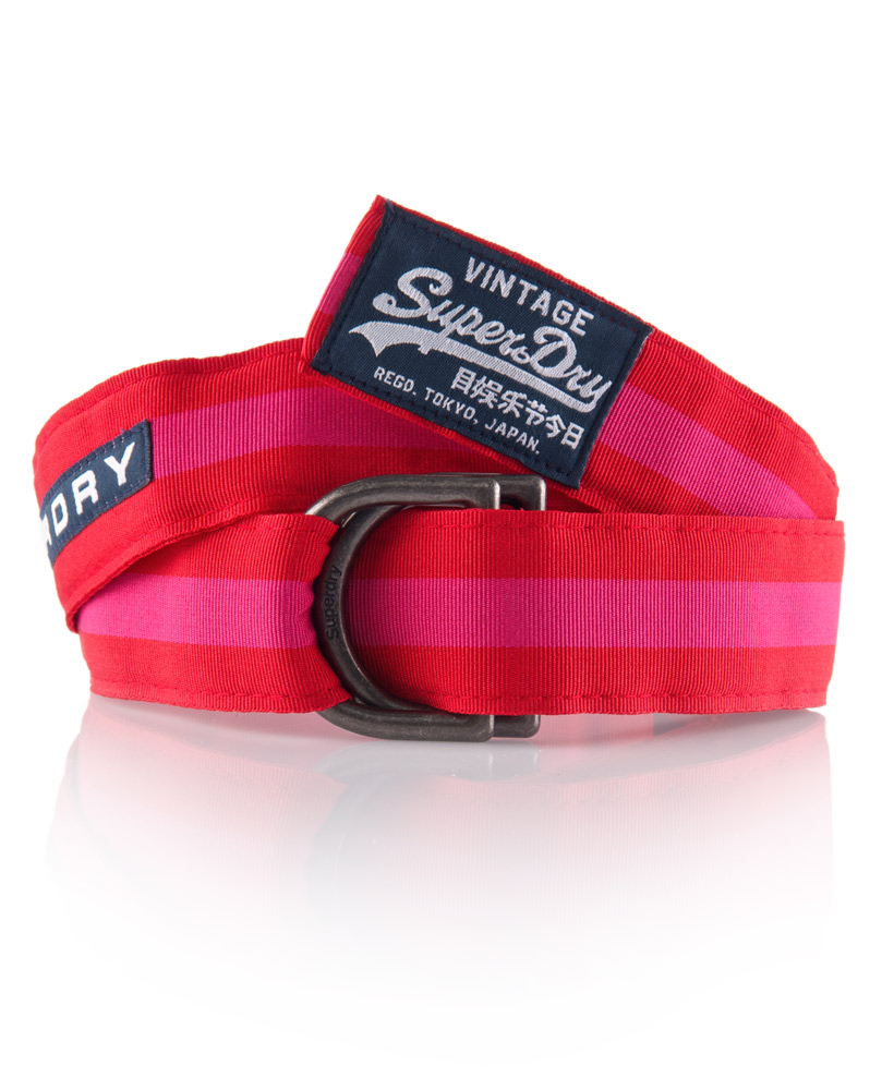 New Superdry Herman Belt Red