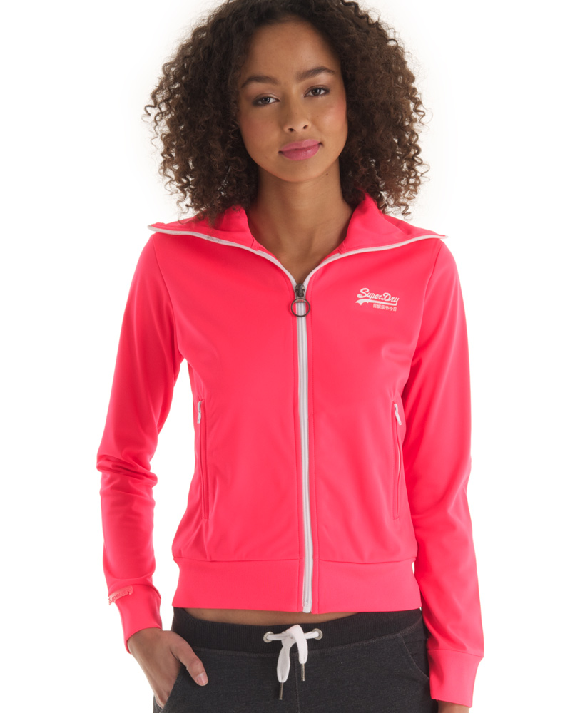 New-Womens-Superdry-Heights-Track-Top-Neon-Pink