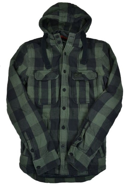 New Mens Superdry Timber Shirt Jacket Vice Green