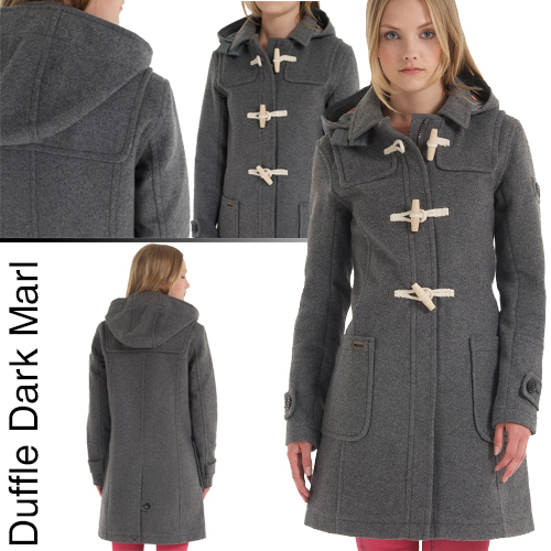 superdry mens grey duffle coat - A Club at the Merchants Hall