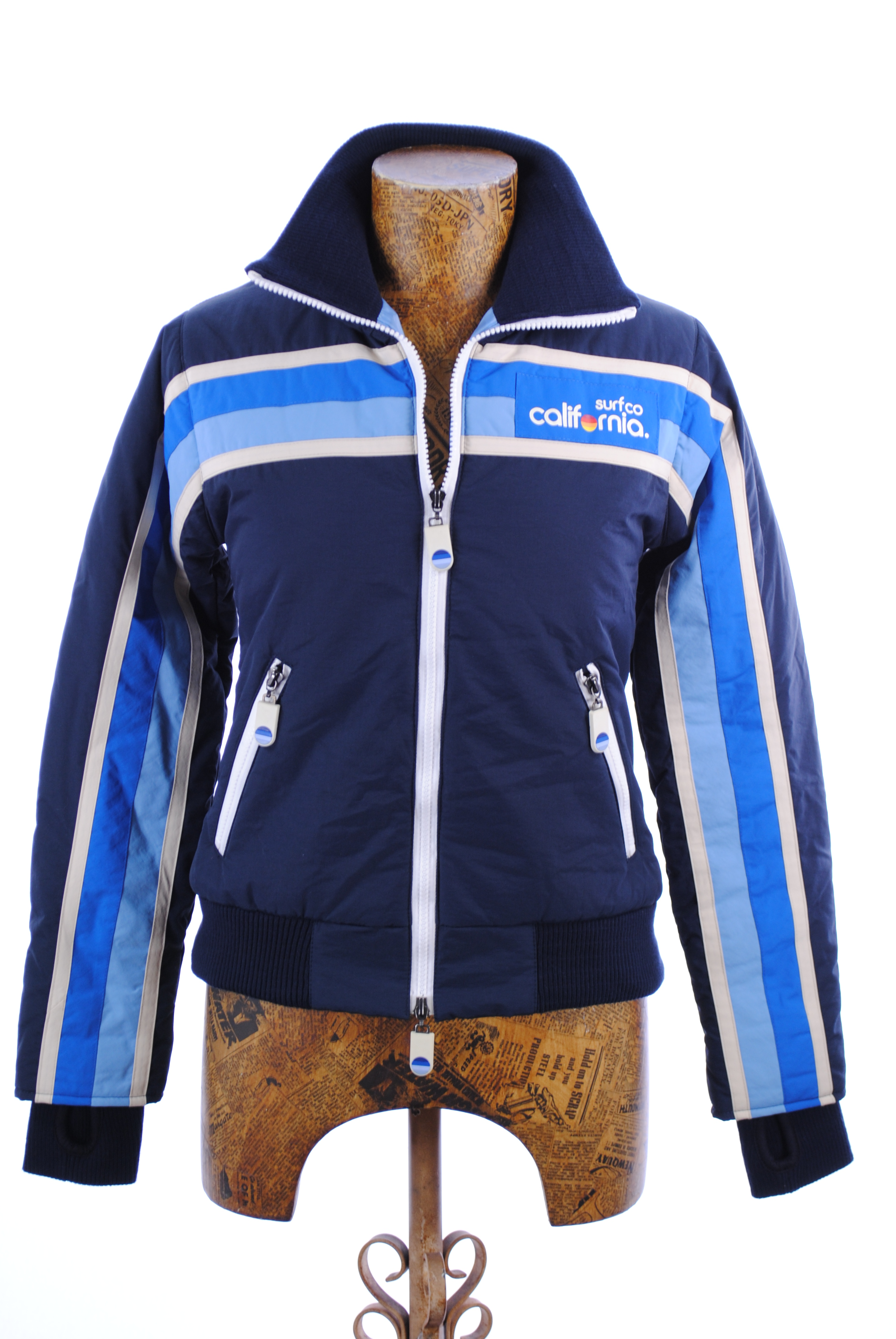 New Womens Superdry Unique Sample Cali Surf Retro Look Jacket Size Extra Small