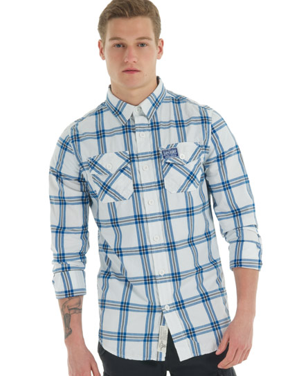 New-Mens-Superdry-Washbasket-Long-Sleeve-Shirt-Bueller-White-VH2