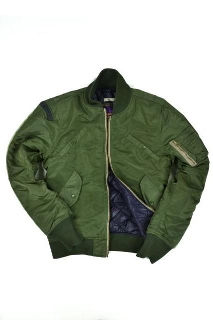 New Mens Superdry Flight Jacket Olive Green