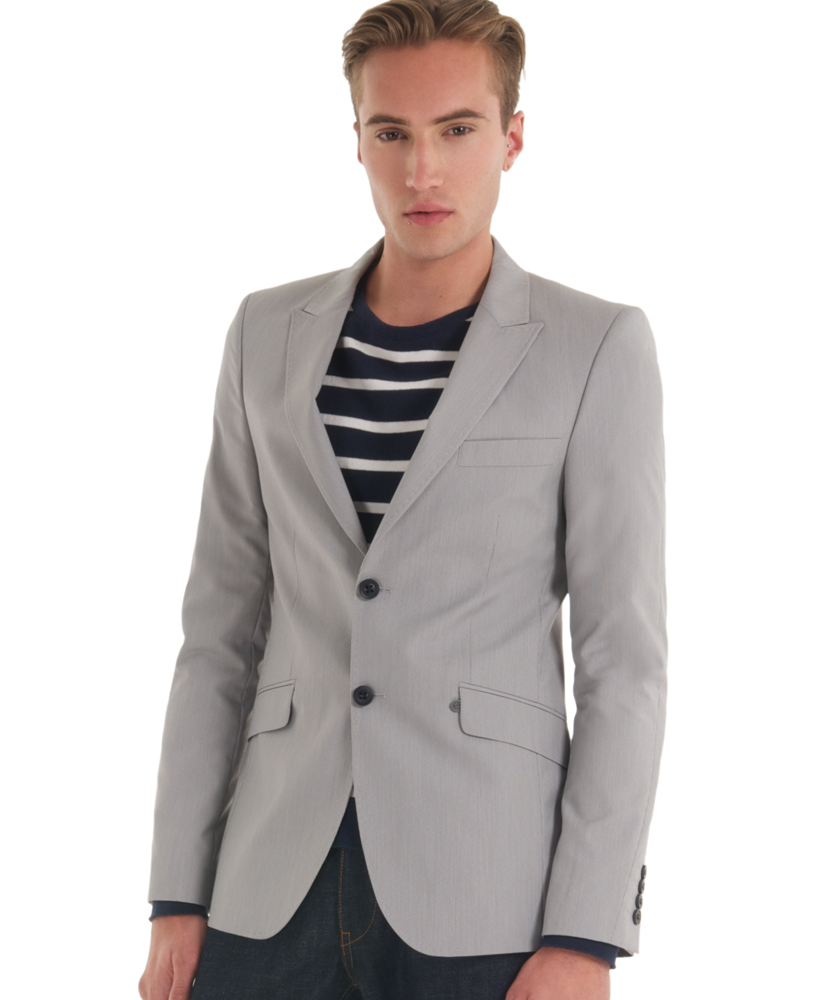 New-Mens-Superdry-Fine-Tailoring-Jacket-Montague-Grey