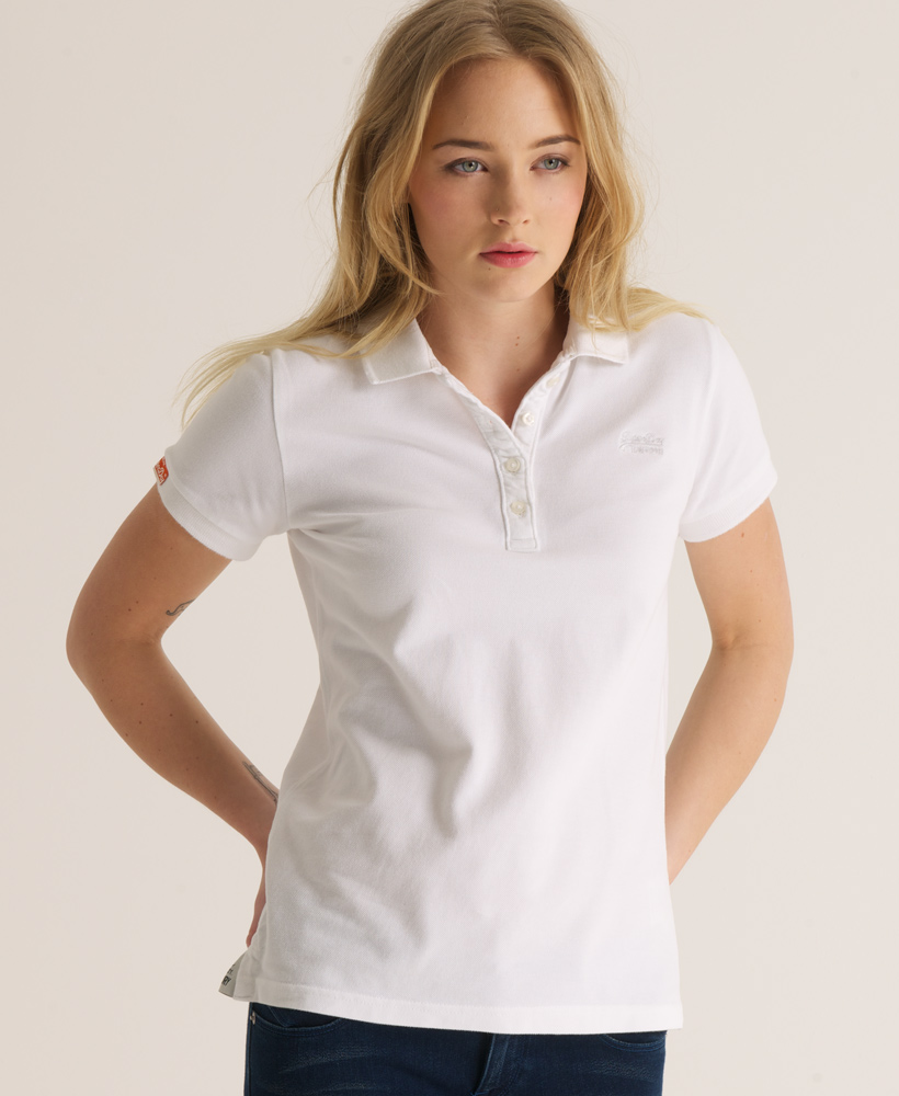 large discount united states half off Female White Polo Shirt - CBM Printing