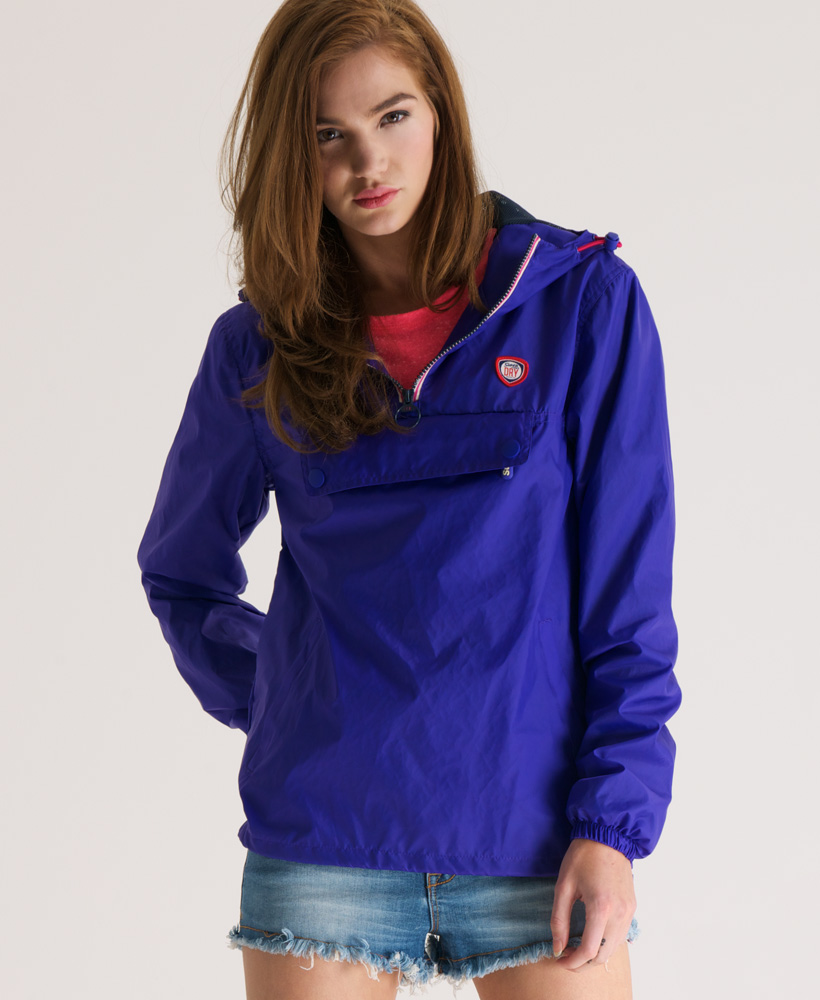 New-Womens-Superdry-Overhead-Cagoule-Jacket-Pop-Purple-AE