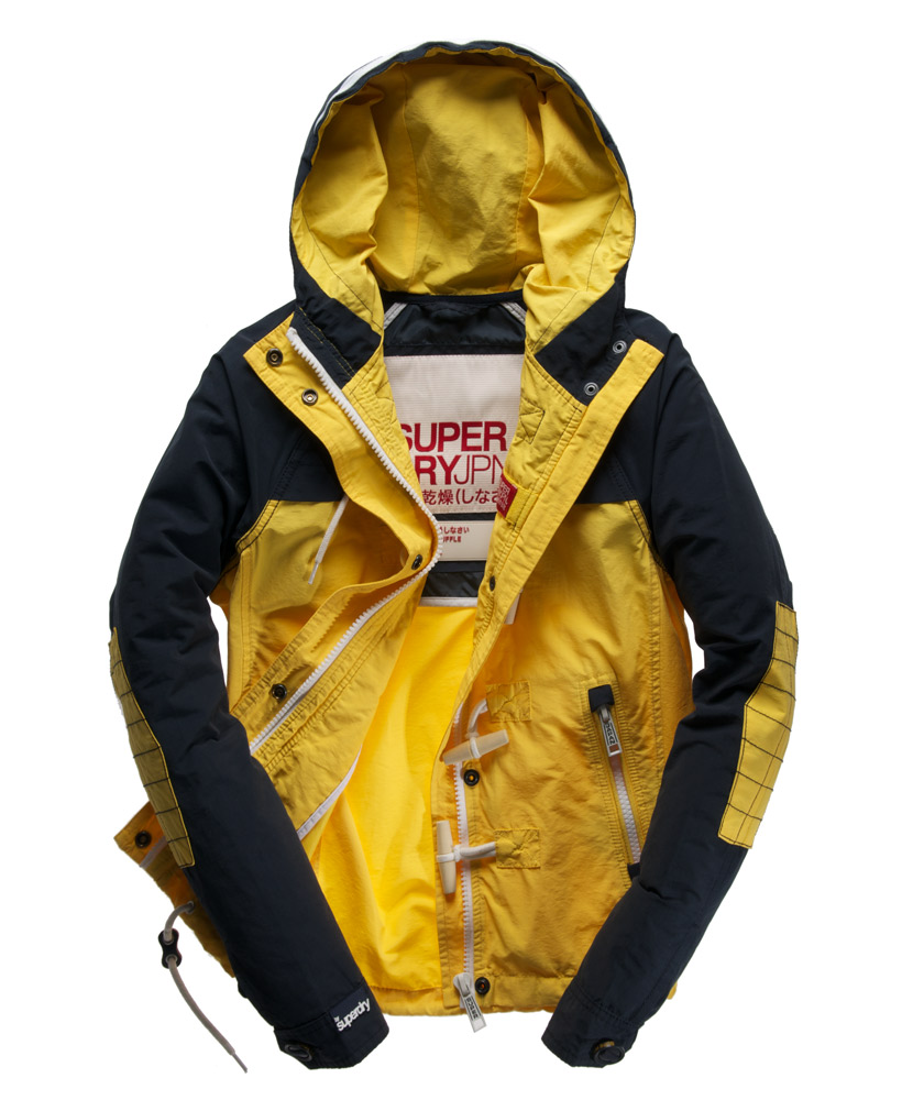 Superdry jacket black and yellow