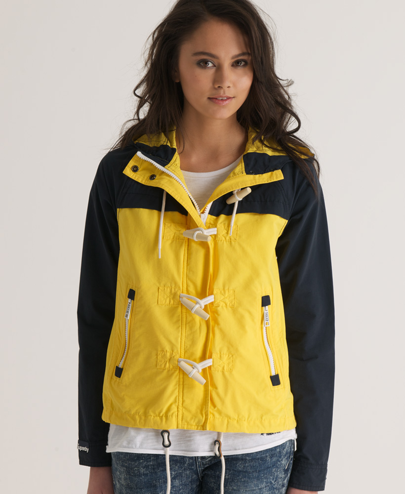 New-Womens-Superdry-Hooded-Dock-Duffle-Jacket-Bright-Yellow-AB1