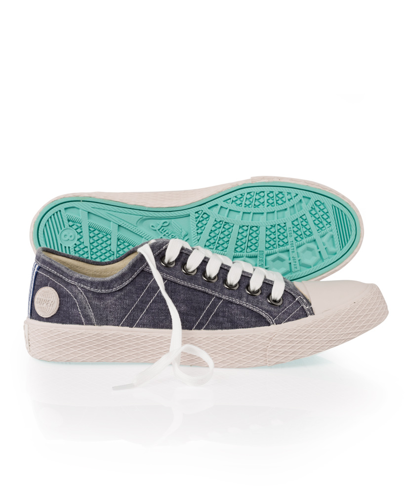 New-Mens-Superdry-Vintage-Series-Lo-Top-Trainers-Washed-Navy-AA