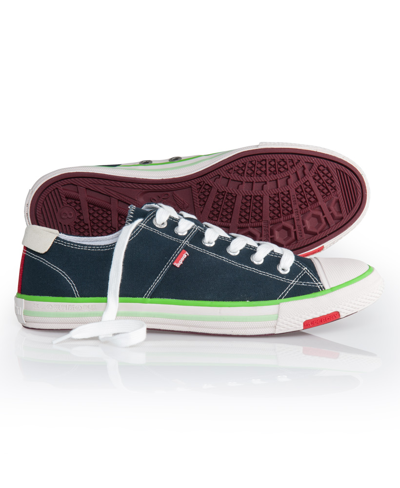 New-Mens-Superdry-Super-Series-Low-Top-Trainers-Midnight-Blue-AA