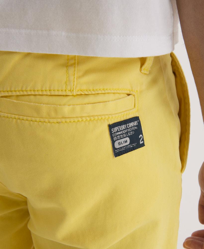 nouveau pantalon chino superdry commodity slim pour homme acide jaune sd ebay. Black Bedroom Furniture Sets. Home Design Ideas