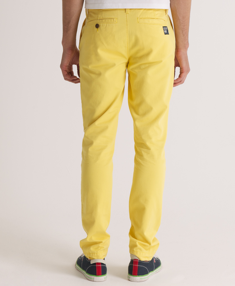 nouveau pantalon chino superdry commodity slim pour homme acide jaune sd ebay. Black Bedroom Furniture Sets. Home Design Ideas
