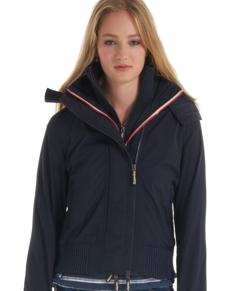 New-Womens-Superdry-Hooded-Fur-Tri-Colour-Windbomber-Jacket-French-Navy-VH