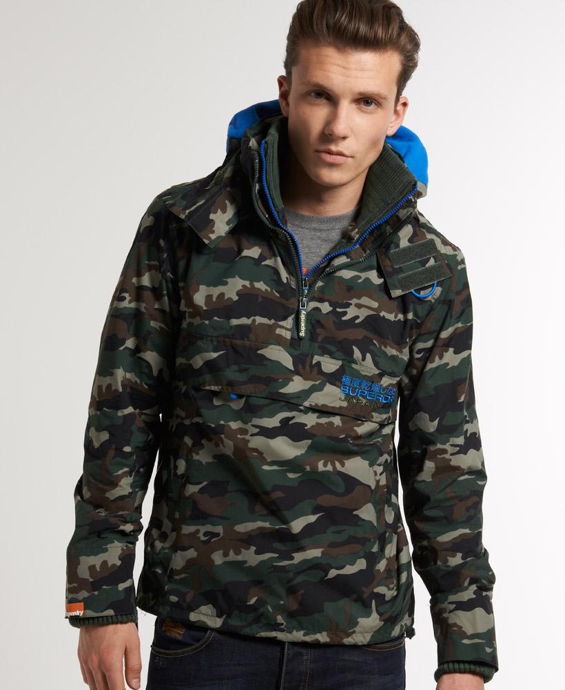 new mens superdry arctic pop zip wind cagoule jacket camo green mjd1 ebay. Black Bedroom Furniture Sets. Home Design Ideas