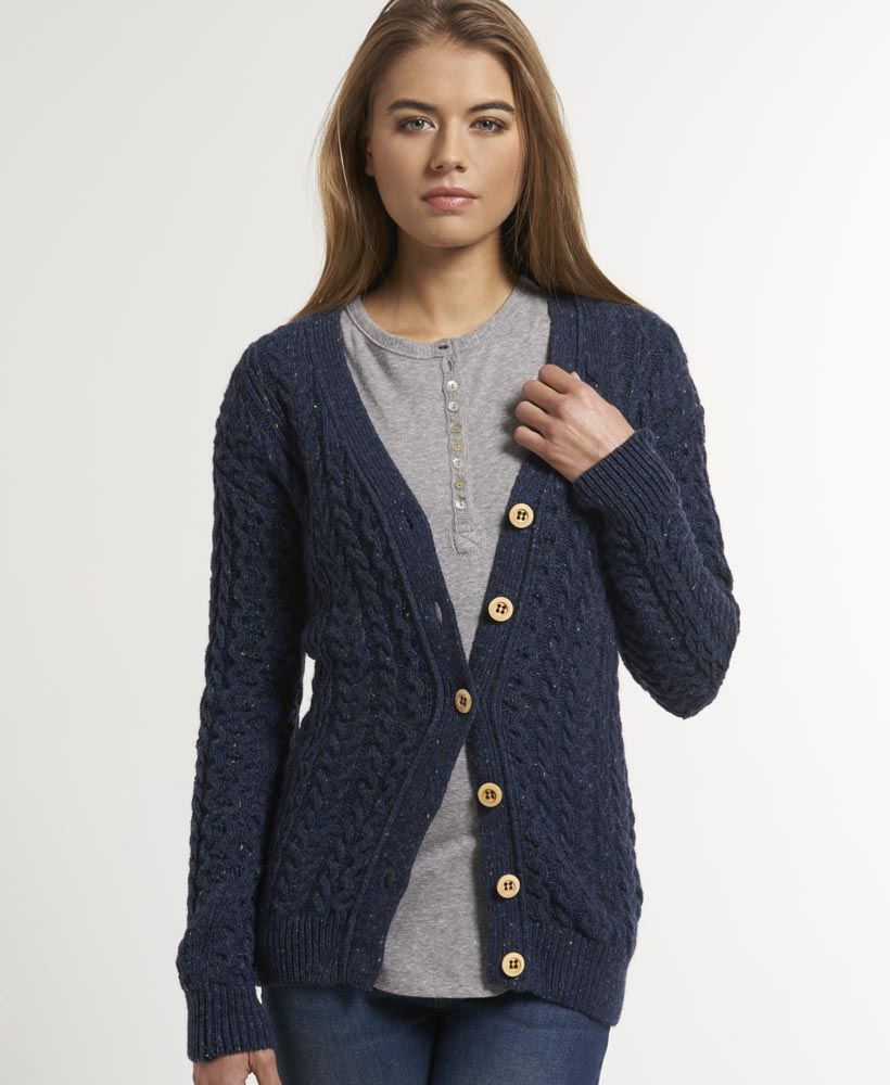 New-Womens-Superdry-Abbey-Cardigan-Navy-Nep