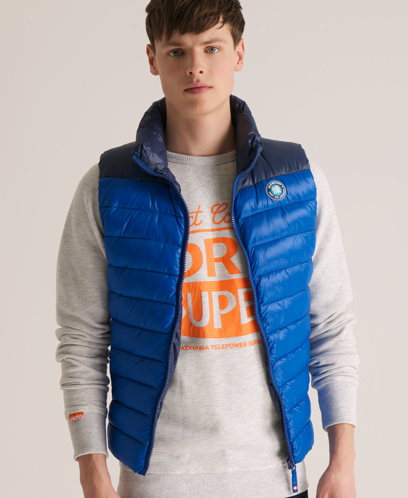 New-Mens-Superdry-Senjo-Vest-Gilet-Jacket-Royal-Blue