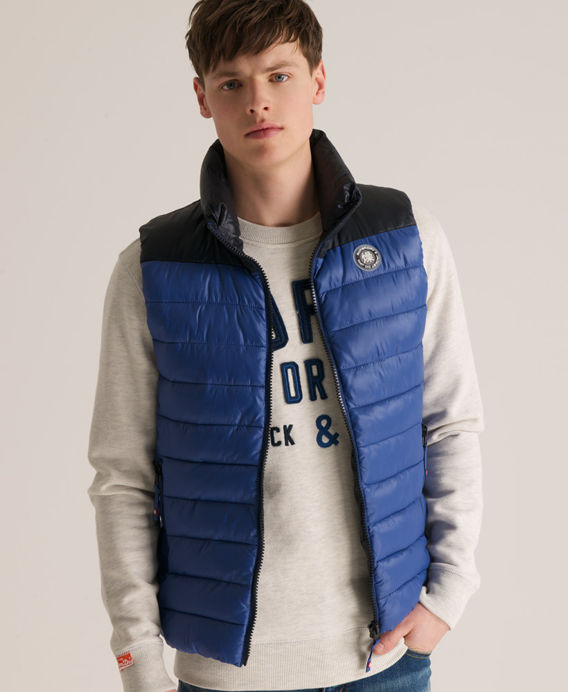 New-Mens-Superdry-Senjo-Vest-Gilet-Jacket-Dark-Navy