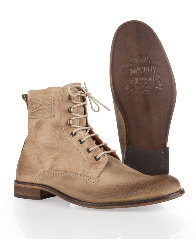 new mens superdry logan boots suede sand brown ebay