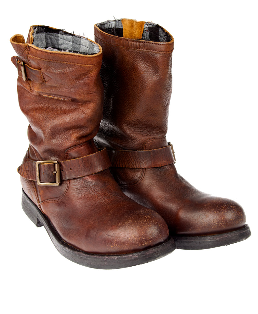 new mens superdry premium richy biker boots brown leather