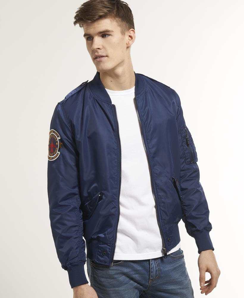 New Mens Superdry Drive Bomber Jacket Petroleum Blue | eBay
