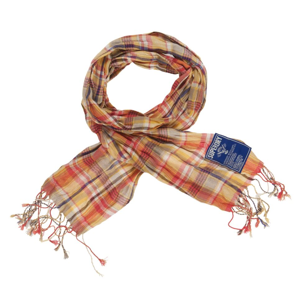 new superdry oxford check scarf pink ebay